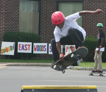 Skater showing off his skills at 2010 SK8 Jam
