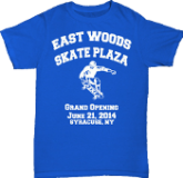 East Woods Skate Plaza Grand Opening Commemorative T-Shirt
